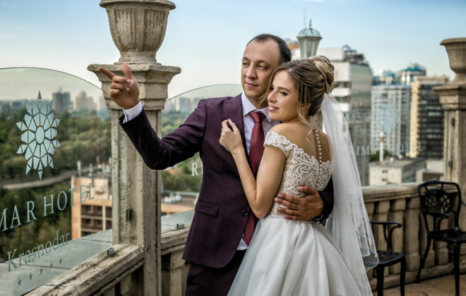 Свадебная съемка от свадебного фотографа отель Rimar Краснодар