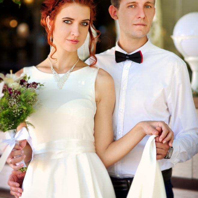 Свадебная съемка после ЗАГСа в кафе