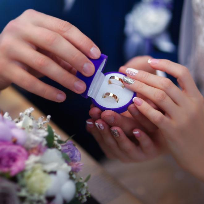 Съемка от свадебного фотографа: кольца