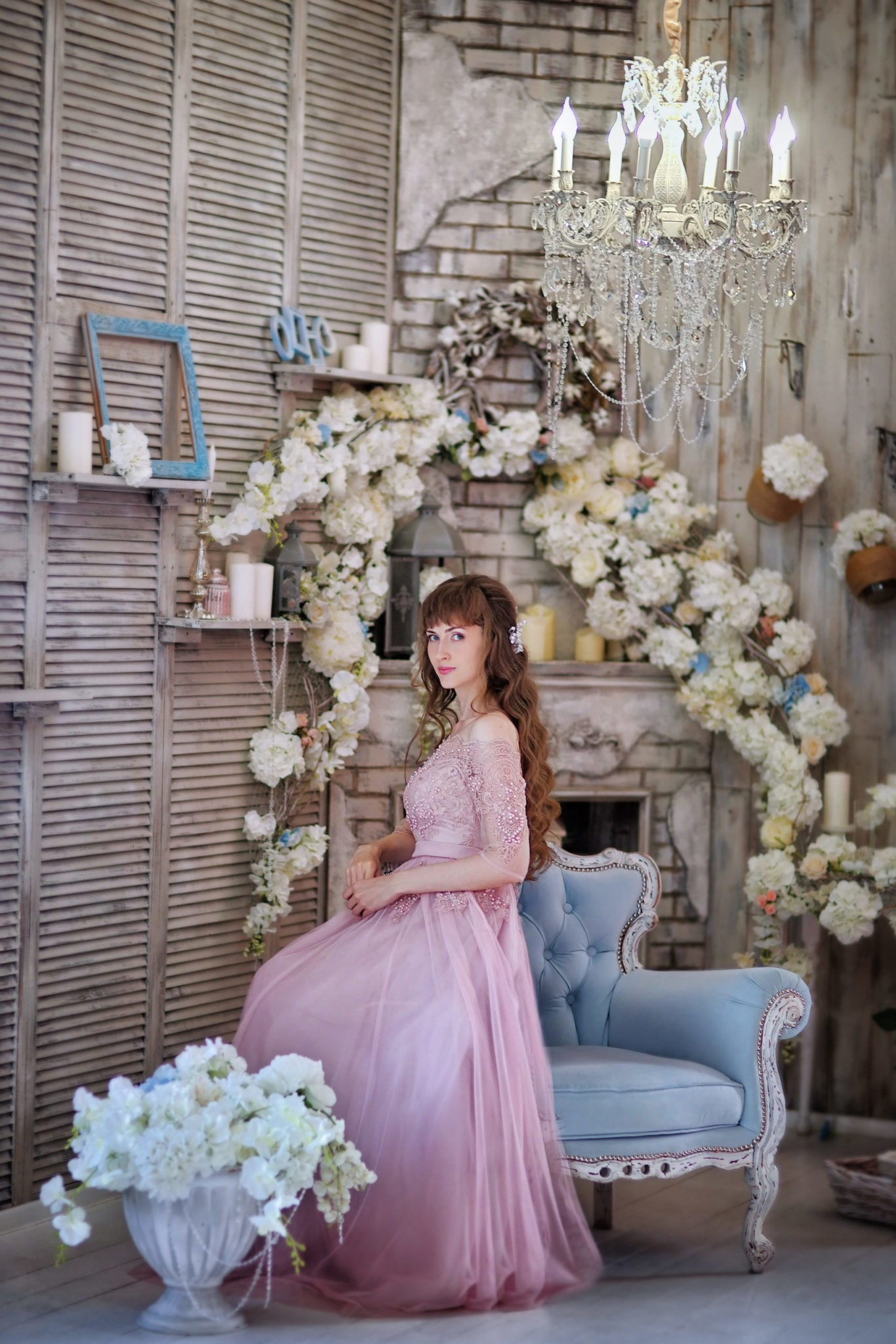 Утро невесты, студийная свадебная съемка в интерьерной студии Краснодар