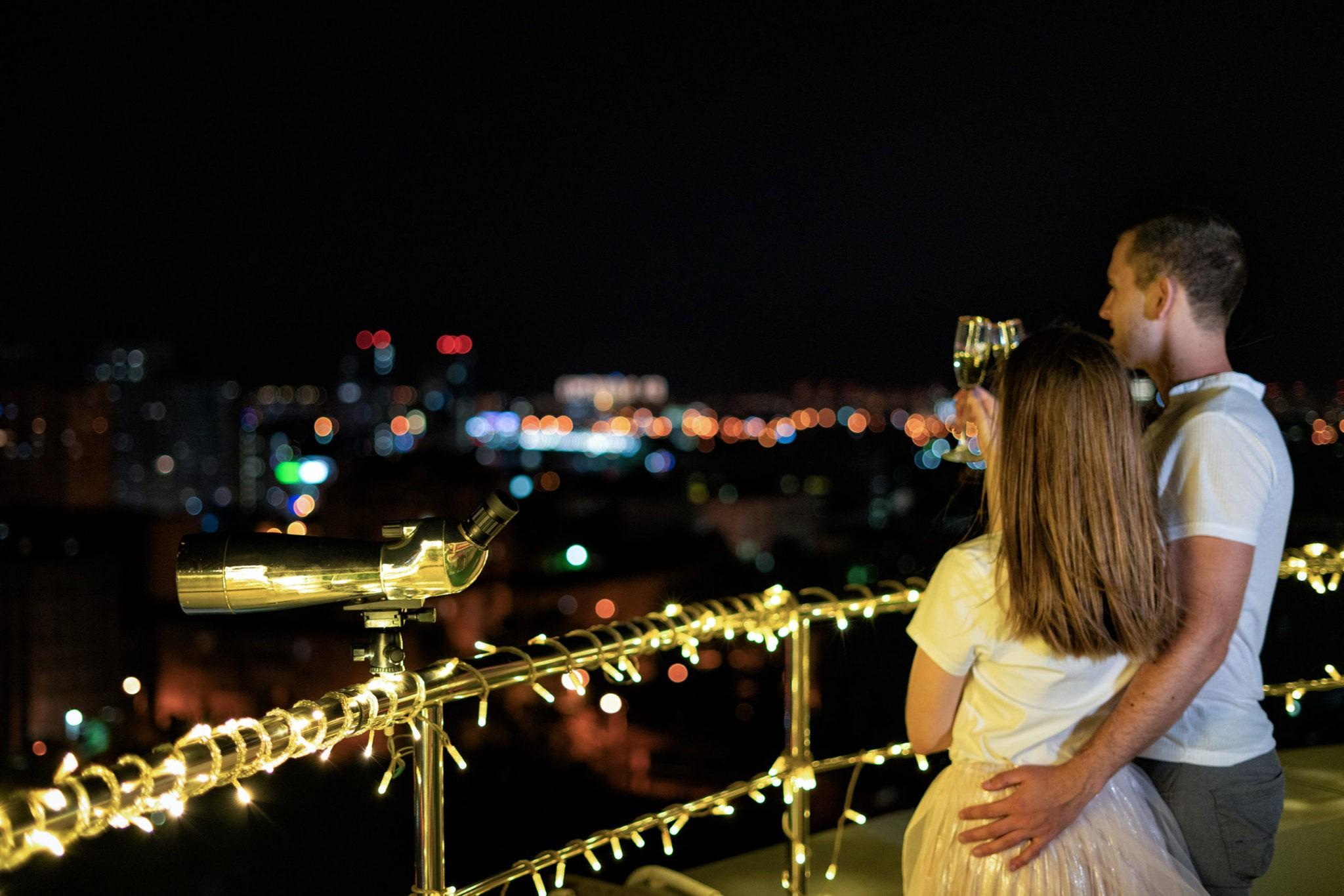 Love story в Краснодаре, ночная съемка история любви
