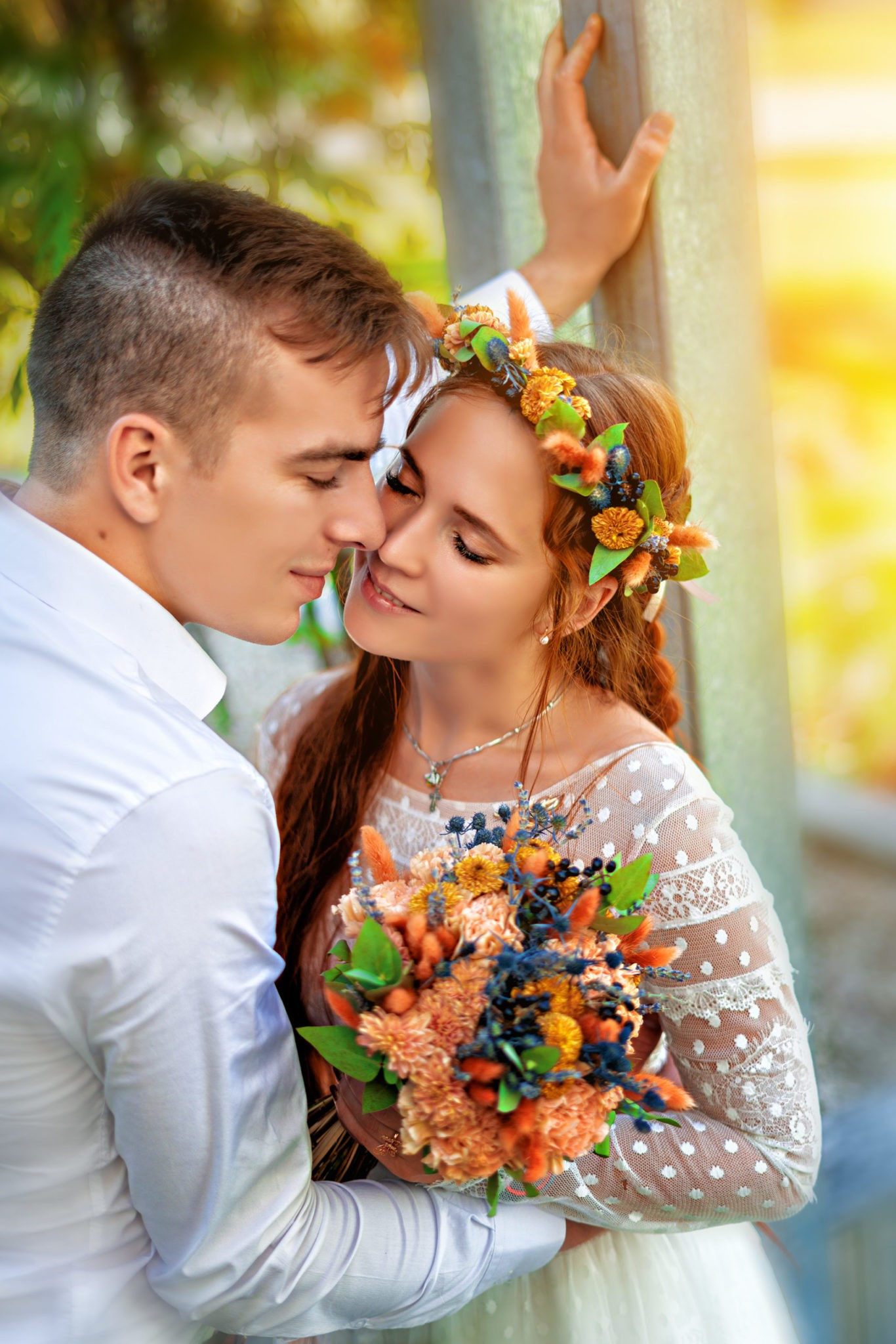 Свадебная фотосъемка в парке Галицкого, Краснодар. Свадебная съемка от Краснодарского свадебного фотографа