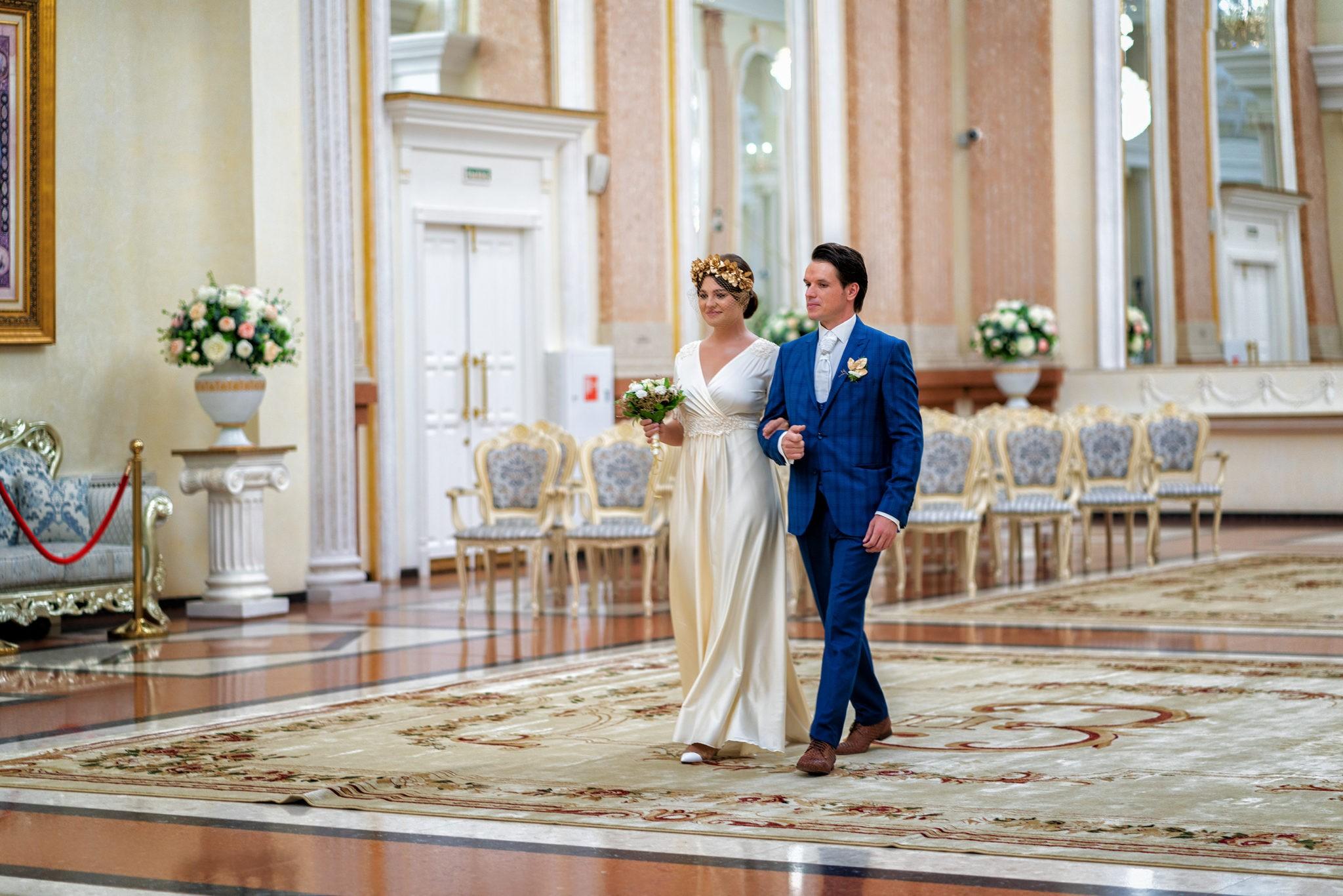 Cвадебная фотосъемка в ЗАГСе Екатерининский Зал Краснодар от свадебного фотографа