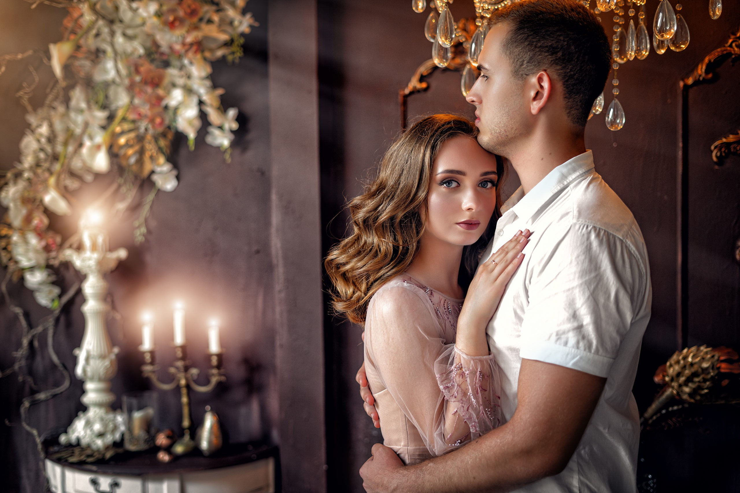 Свадебная съемка в студии Краснодара от краснодарского свадебного фотографа