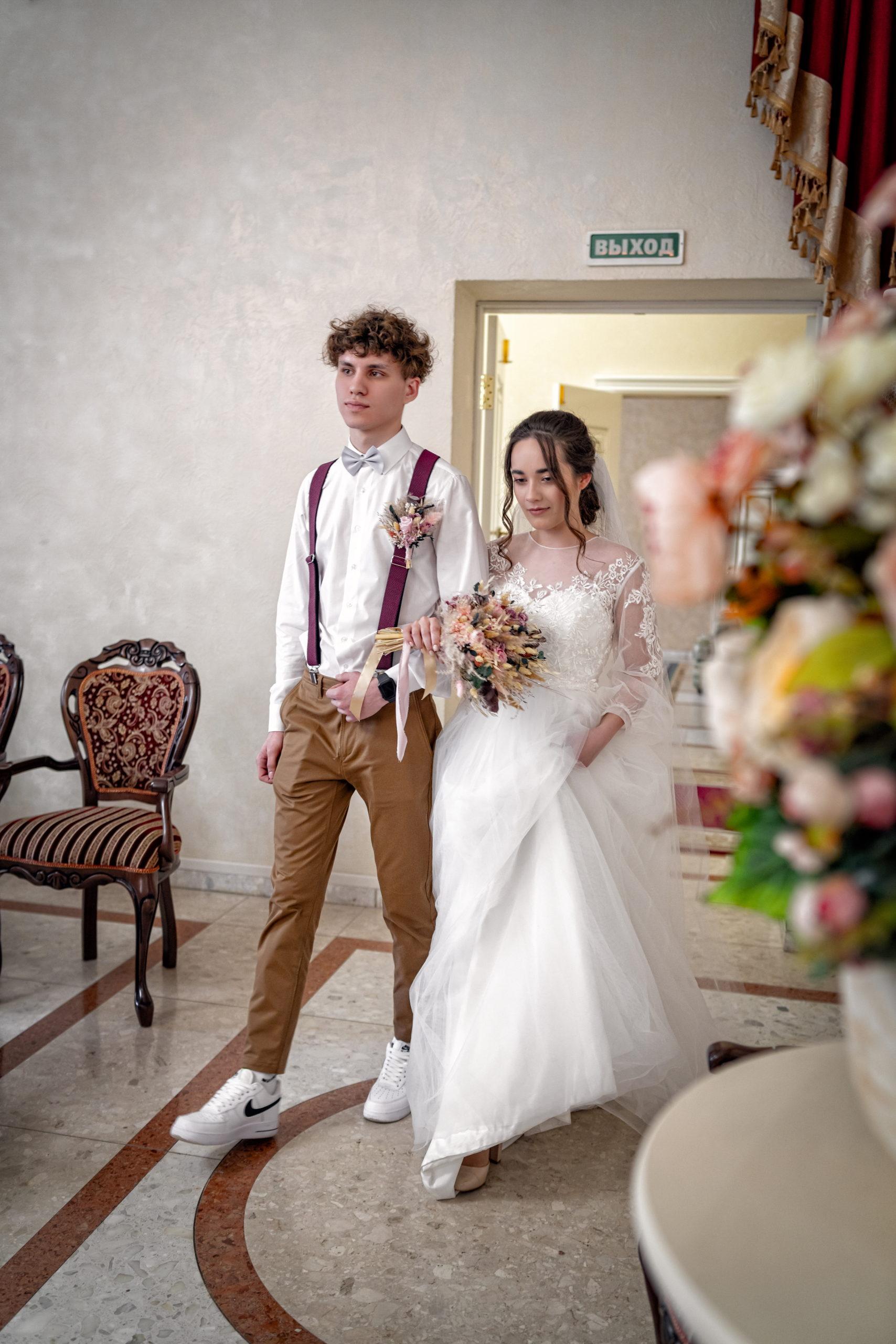 Малый Хрустальный зал Екатерининского загса свадебные фото